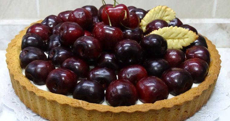 Tarta de cerezas frescas con crema de queso ¡Irresistible!