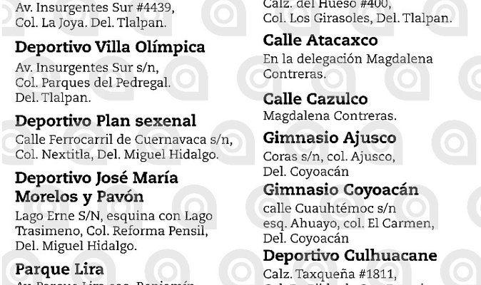 CENTROS DE ACOPIO, ALBERGUES, DONACIONES CDMX
