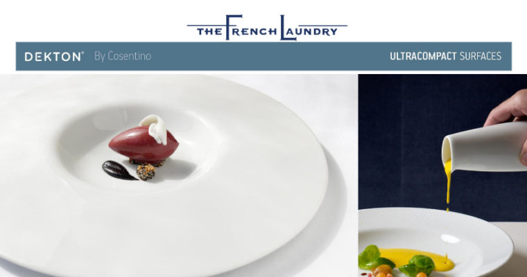 "Thomas Keller y Dekton renuevan ""The French Laundry"", el restaurante con 3 estrellas Michellin."