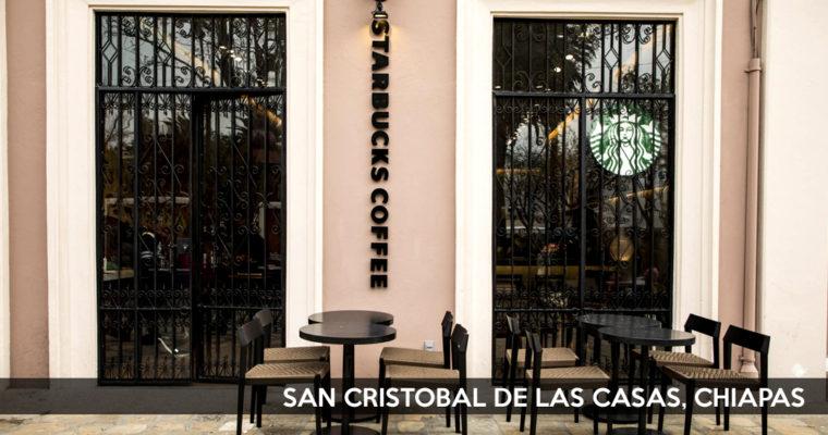 Starbucks abre una nueva tienda en San Cristobal de las Casas, Chiapas.