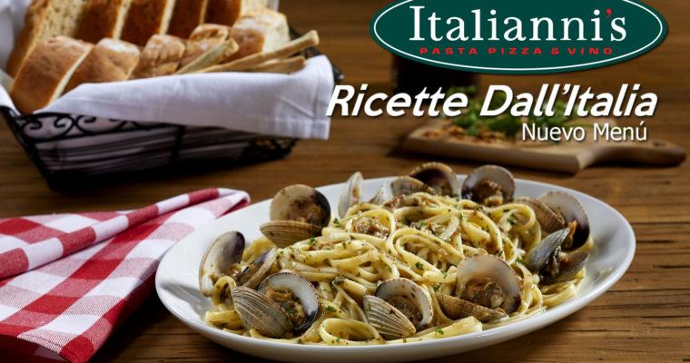 Ricette Dall'Italia, el nuevo menú de Italianni's.